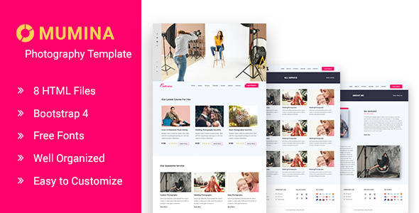 Mumina Photography and Portfolio HTML Template