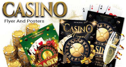 Casino Poker Bingo Flyer And Posters