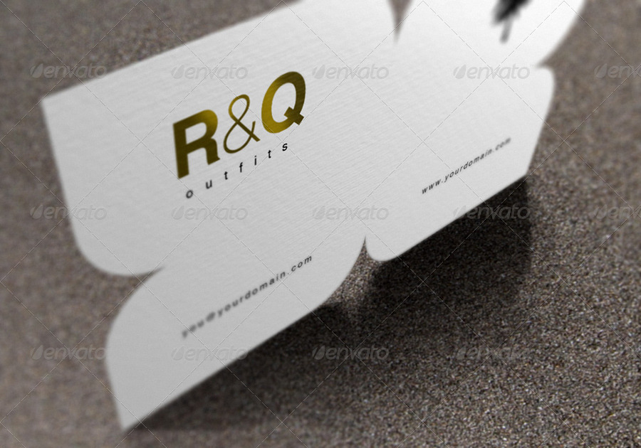 Die Cut Business Card Mockup by artbees | GraphicRiver