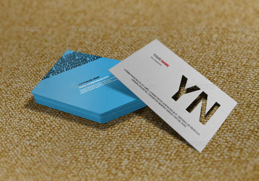 Die cut business card mockup by artbees graphicriver die cut business card mockup reheart Images