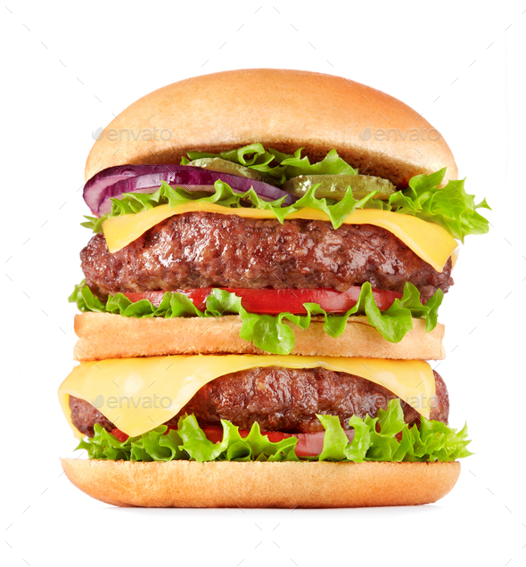 Double cheeseburger - Stock Photo - Images