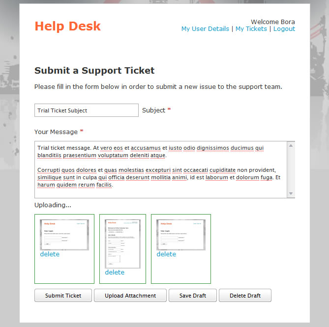 Help desk ticket template easy redmine help desk for Help desk manual template
