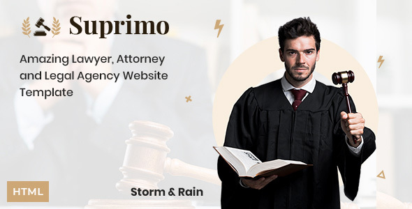 Suprimo | Lawyer Attorney Website HTML Template