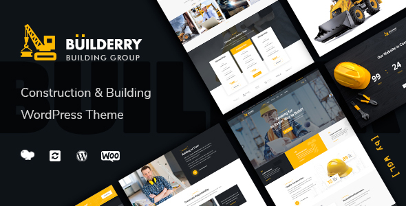 Download Builderry – Construction and Building WordPress Theme Free Nulled