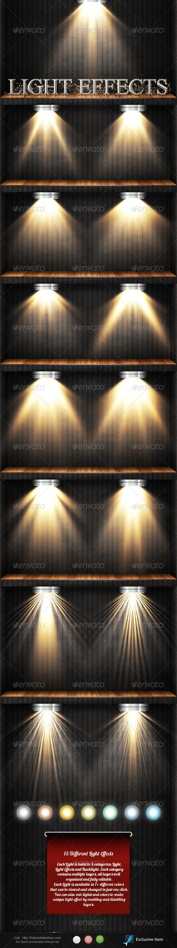 Light Effects Set 3 - Decorative Graphics