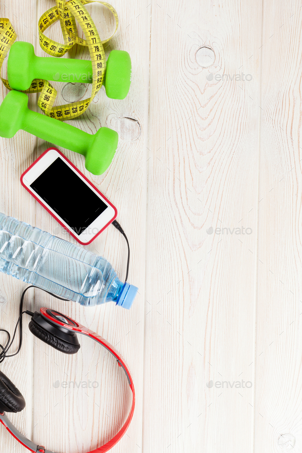 Fitness and diet concept background - Stock Photo - Images