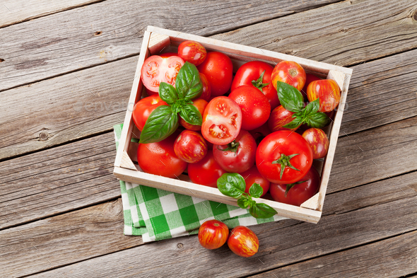 Fresh ripe garden tomatoes - Stock Photo - Images