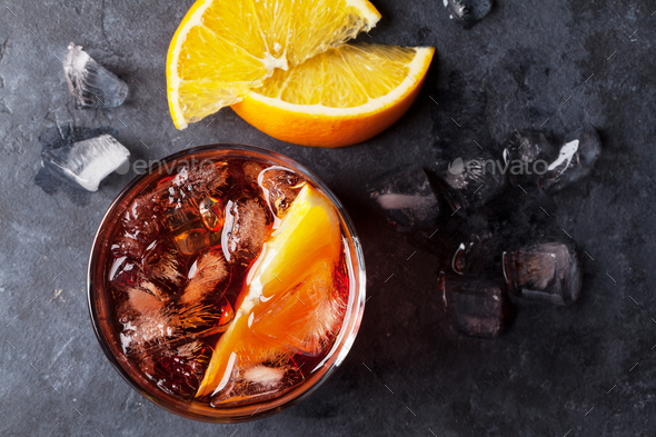 Negroni cocktail - Stock Photo - Images