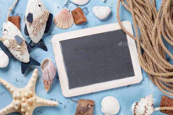 Beach vacation background - Stock Photo - Images