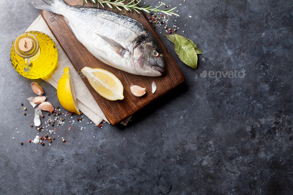 Fish cooking ingredients - Stock Photo - Images