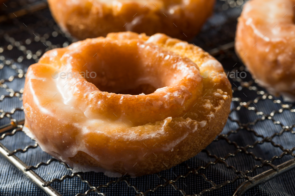Homemade Old Fashioned Donuts - Stock Photo - Images