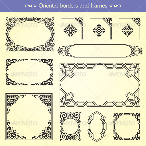 Oriental Asian Borders And Frames - Borders Decorative