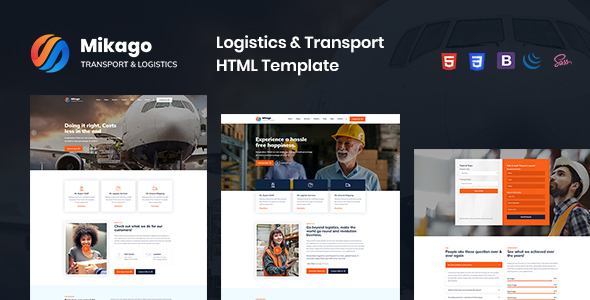 Mikago - Logistics & Transportation HTML Template by blue_design