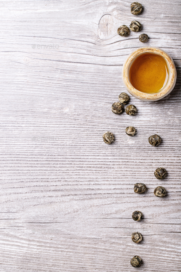 Variety of green tea - Stock Photo - Images