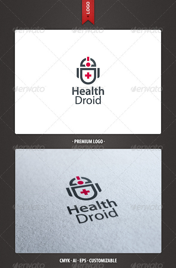 Health Droid Logo Template - Objects Logo Templates