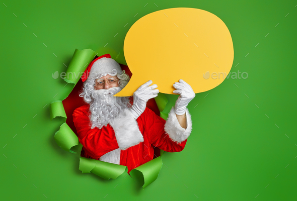 Santa Claus on color background. - Stock Photo - Images