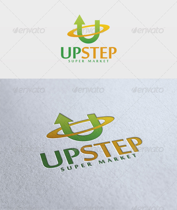 Up Step Logo - Letters Logo Templates