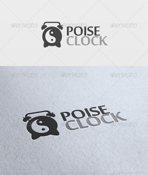 Poise Clock Logo - Objects Logo Templates
