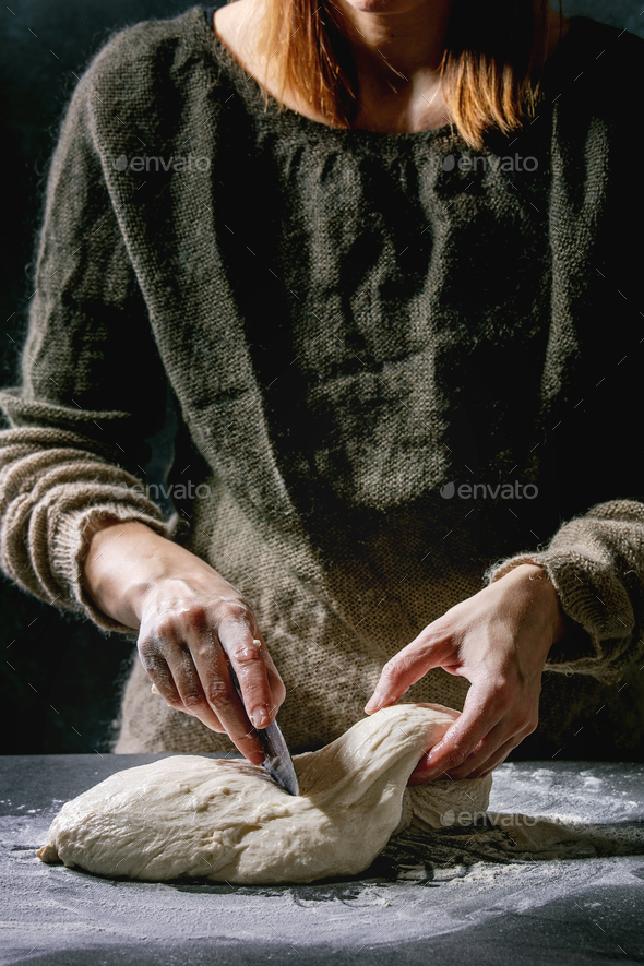 Making bread dough - Stock Photo - Images