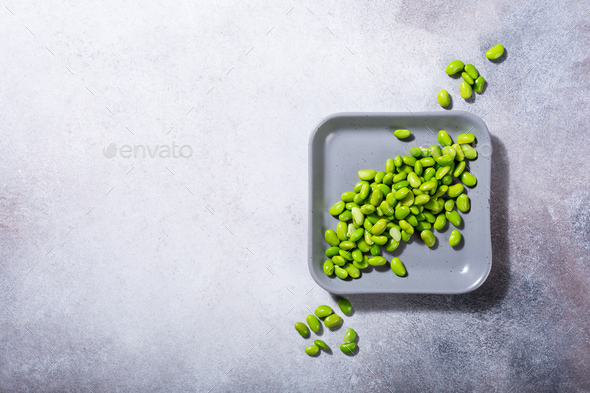 Green fresh soybeans - Stock Photo - Images