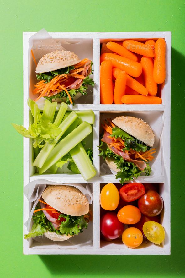 Delicious mini burgers - Stock Photo - Images
