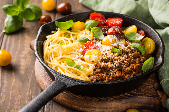 Delicious spaghetti Bolognaise - Stock Photo - Images