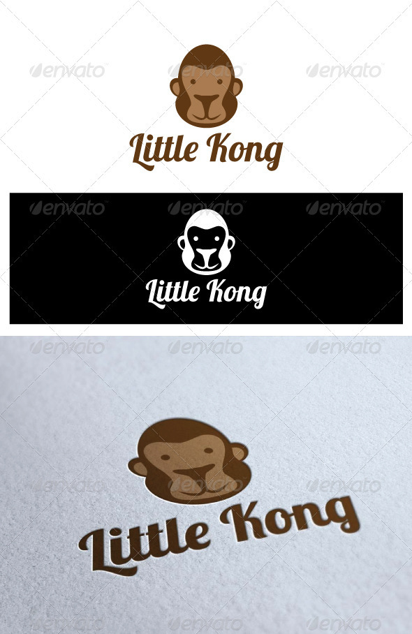 Logo Little Kong - Animals Logo Templates