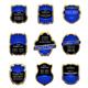 Set of blue labels - GraphicRiver Item for Sale