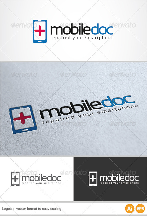 Mobile Doc Logo - Symbols Logo Templates