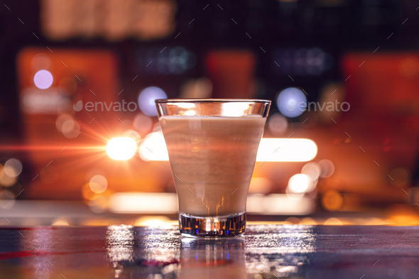 Latte coffee glass - Stock Photo - Images