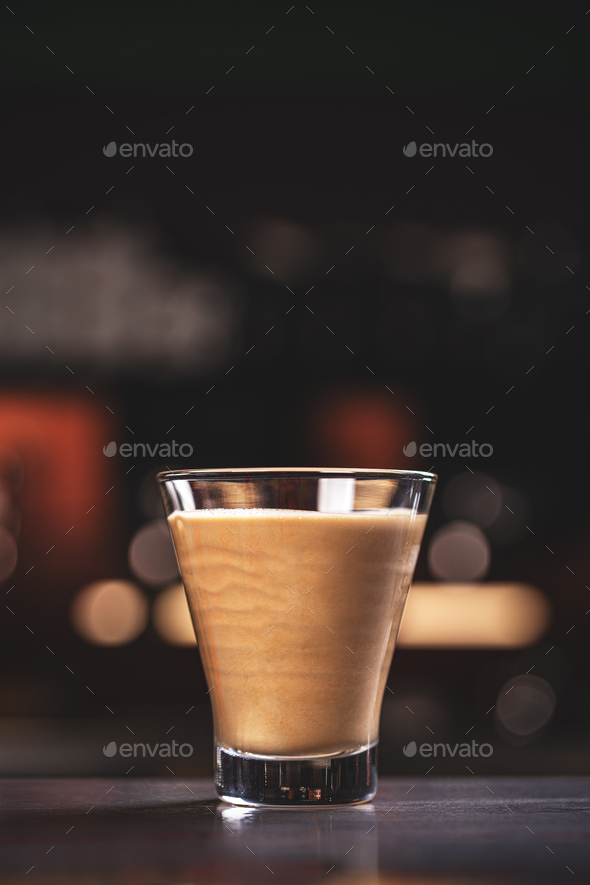 Coffee latte in glass cup - Stock Photo - Images