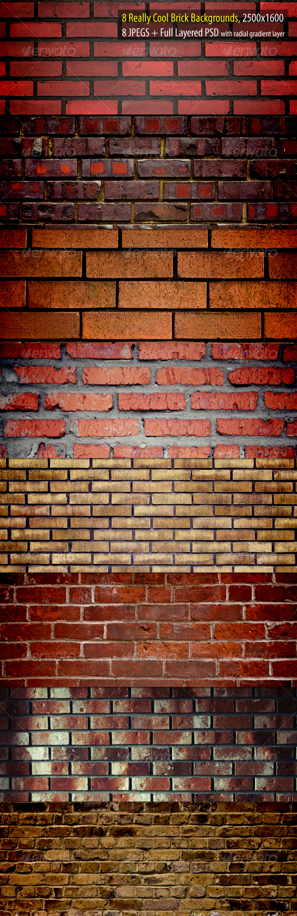 Really Cool Brick Backgrounds Pack - Urban Backgrounds