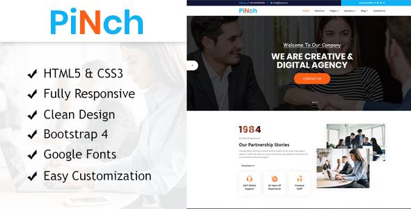 Pinch Multipurpose HTML Responsive Template
