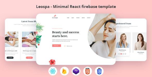 Extraordinary Leospa - Minimal React Firebase Spa Template