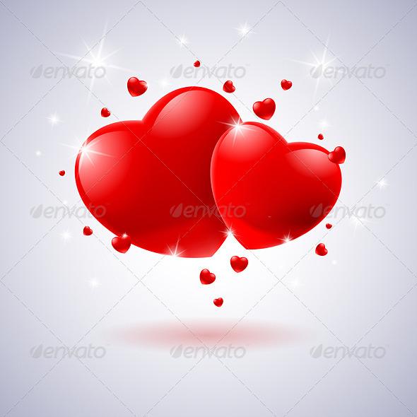 Red Hearts - Valentines Seasons/Holidays