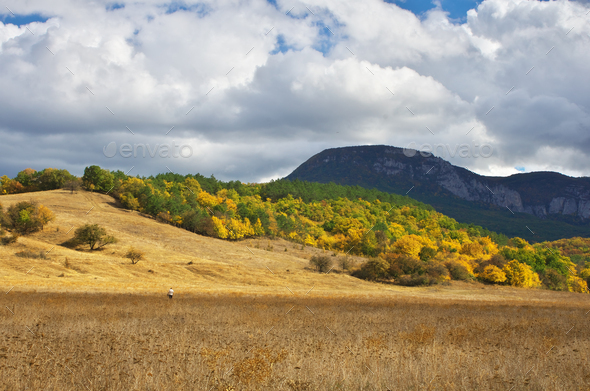 Autumn mountain landscape. - Stock Photo - Images