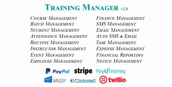 Training Manager - Ultimate Training / Coaching / Learning Center Management System