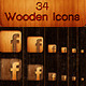34 Wooden Icons - GraphicRiver Item for Sale