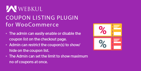 Coupon Listing Plugin for WooCommerce
