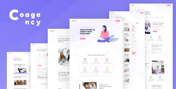 Excellent Cogency - SEO / Digital Agency HTML5 Template