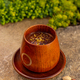Wooden cup of hot chocolate - PhotoDune Item for Sale