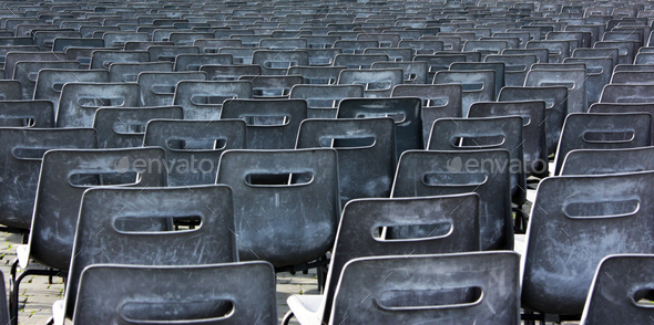 Empty chairs of auditorium - Stock Photo - Images