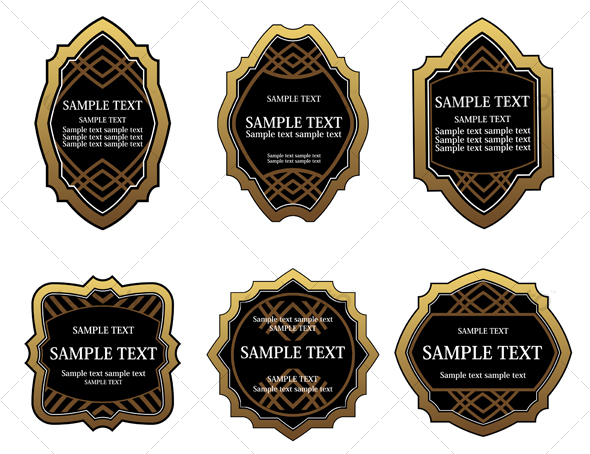 Set of labels for design food and beverages - Decorative Vectors