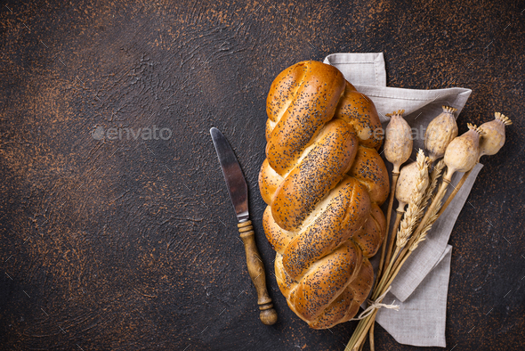 Sweet bread with poppy seeds - Stock Photo - Images
