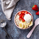 Oatmeal with strawberry, banana and ice cream - PhotoDune Item for Sale