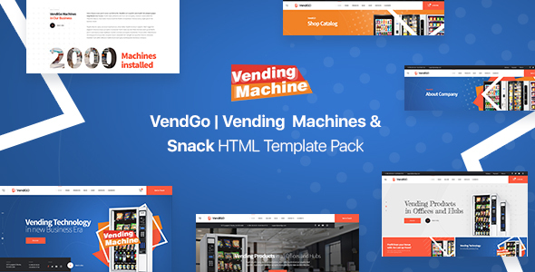 VendGo | Vending  Machines & Snack  HTML Template Pack
