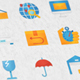 Logistics & Transportation Modern Flat Animated Icons - VideoHive Item for Sale