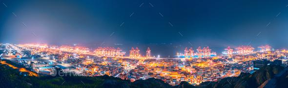 shanghai yangshan port - Stock Photo - Images