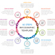 Circle Infographics with Ten Elements
