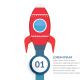 Rocket - StartUp Infographics